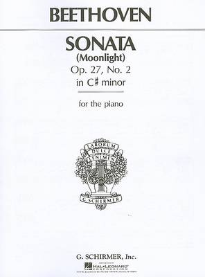 Beethoven: Piano Sonata In C Sharp Minor Op.27 No. 2 'Moonlight' (Paperback)