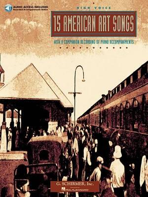 15 American Art Songs (High Voice) (Paperback)
