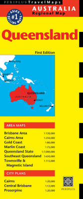 Queensland Travel Map - Periplus Maps (Sheet map, folded)