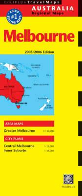 Melbourne Travel Map Second Edition - Periplus Maps (Sheet map)