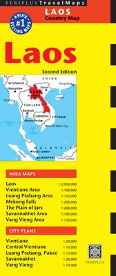 Laos Travel Map - Periplus Maps (Sheet map, folded)