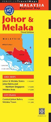 Johor and Melaka Travel Map (Sheet map)