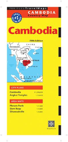 Cambodia Travel Map (Sheet map)
