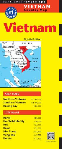 Vietnam Travel Map Eighth Edition (Sheet map)