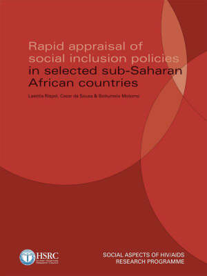 Rapid Appraisal of Social Inclusion Policies in Selected Sub-Saharan African Countries (Paperback)