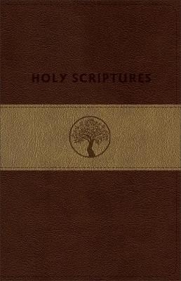 Tlv Personal Size Giant Print Reference Bible, Holy Scriptures, Brown/Sand Duravella (Leather / fine binding)