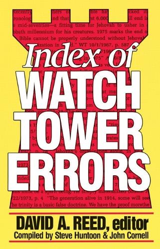 Index of Watchtower Errors, 1879 to 1989 (Paperback)