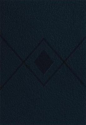 CSB Baker Illustrated Study Bible Navy, Diamond Design LeatherTouch (Leather / fine binding)