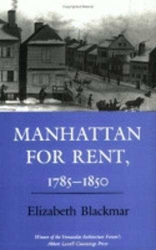 Manhattan for Rent, 1785-1850 (Paperback)