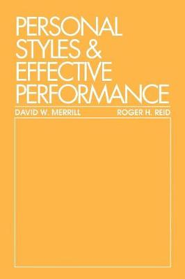 Personal Styles & Effective Performance (Paperback)