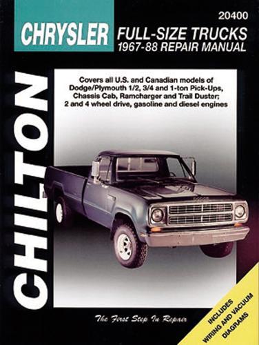 Dodge Pick-Ups (67 - 88) (Chilton) (Paperback)