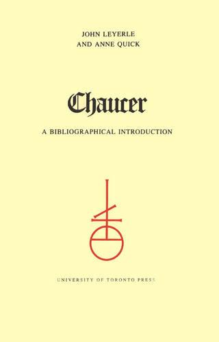 Chaucer: A Select Bibliography - Toronto Medieval Texts & Translations (Paperback)