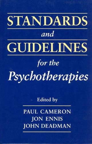 Standards and Guidelines for the Psychotherapies (Paperback)