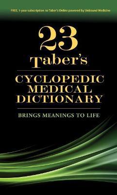 Taber'S Cyclopedic Medical Dictionary, 23e (Hardback)