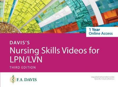 Davis's Nursing Skills Videos for LPN/LVN: 1-Year Online Access Card
