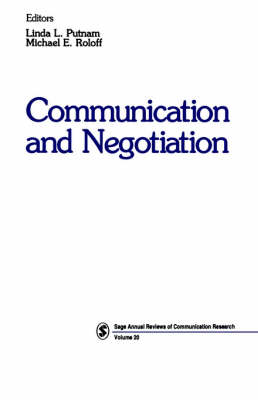 Communication and Negotiation - SAGE Series in Communication Research (Paperback)