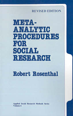 Meta-Analytic Procedures for Social Research - Applied Social Research Methods (Paperback)