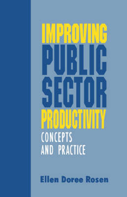 Improving Public Sector Productivity: Concepts and Practice (Paperback)