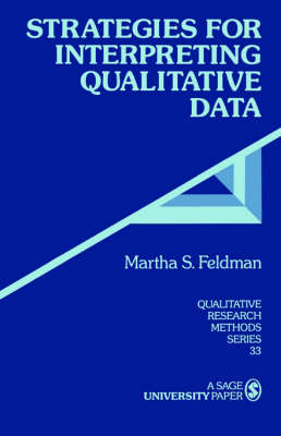 Strategies for Interpreting Qualitative Data - Qualitative Research Methods (Paperback)