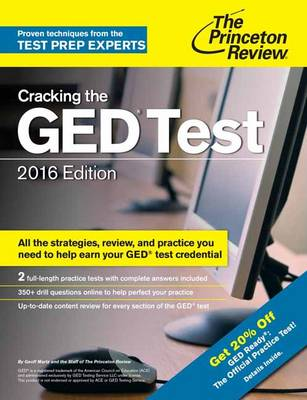 Cracking The Ged Test With 2 Practice Exams, 2016 Edition (Paperback)