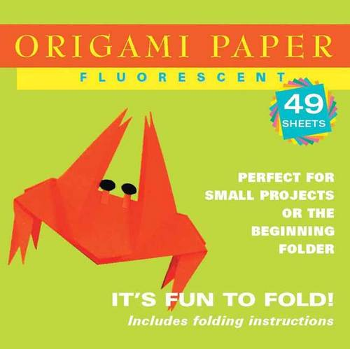 """Origami Paper - Fluorescent Colors - 6 3/4"""" - 48 Sheets: Tuttle Origami Paper: High-Quality Origami Sheets Printed with 6 Different Colors: Instructions for 6 Projects Included"""