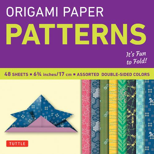 "Origami Paper - Patterns - Small 6 3/4"" - 49 Sheets: Tuttle Origami Paper: High-Quality Origami Sheets Printed with 8 Different Designs: Instructions for 6 Projects Included"