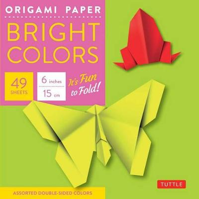 """Origami Paper - Bright Colors - 6"""" - 49 Sheets: Tuttle Origami Paper: High-Quality Origami Sheets Printed with 6 Different Colors: Instructions for Origami Projects Included"""