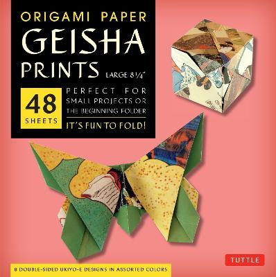 Origami Paper Geisha Prints: Large