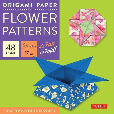 Origami Paper - Flower Patterns: Flower Patterns