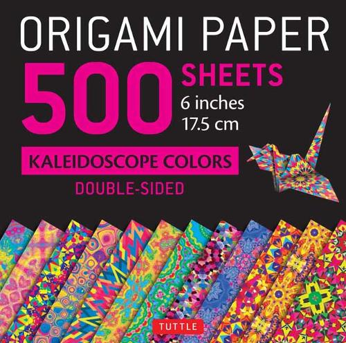 """Origami Paper 500 Sheets Kaleidoscope Patterns 6"""" (15 CM): 12 Double-Sided Designs"""