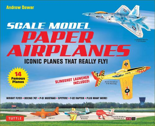Scale Model Paper Airplanes Kit: Iconic Planes That Really Fly! Catapult Launcher Included! - Just Pop-out and Assemble (14 Famous Pop-out Airplanes)