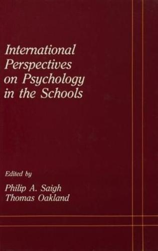 International Perspectives on Psychology in the Schools - School Psychology Series (Hardback)
