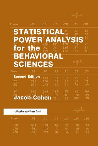 Statistical Power Analysis for the Behavioral Sciences (Hardback)