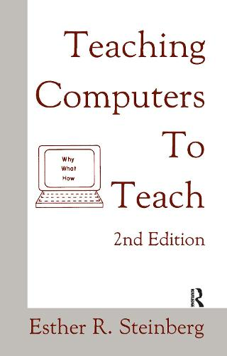 Teaching Computers To Teach (Hardback)