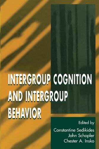 Intergroup Cognition and Intergroup Behavior - Applied Social Research Series (Paperback)