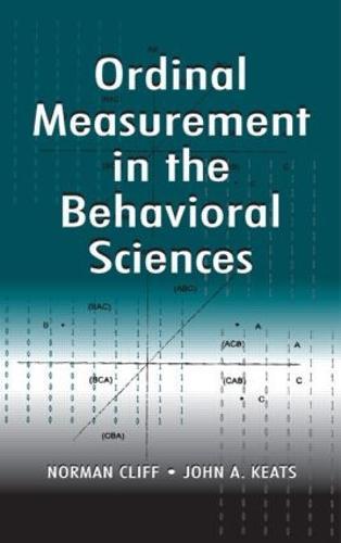 Ordinal Measurement in the Behavioral Sciences (Hardback)