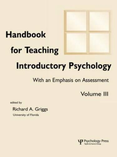 Handbook for Teaching Introductory Psychology: Volume Ii (Paperback)