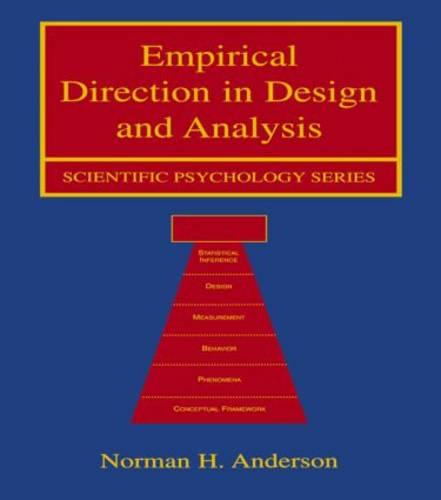 Empirical Direction in Design and Analysis - Scientific Psychology Series (Paperback)