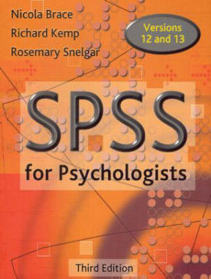 SPSS for Psychologists, Third Edition (Paperback)