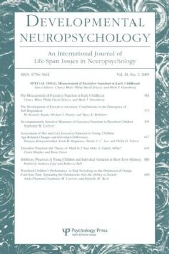 """Measurement of Executive Function in Early Childhood: v. 28, no. 2: A Special Issue of """"Developmental Neuropsychology"""" (Paperback)"""