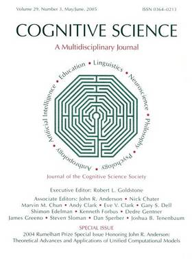 2004 Rumelhart Prize Special Issue Honoring John R. Anderson: Theoretical Advances and Applications of Unified Computational Models: A Special Issue of Cognitive Science (Paperback)