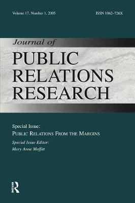 Public Relations From the Margins: A Special Issue of the Journal of Public Relations Research (Paperback)