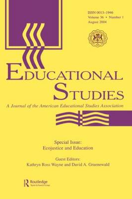 Ecojustice and Education: A Special Issue of educational Studies (Paperback)