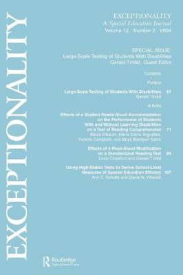 Large-scale Testing of Students With Disabilities: A Special Issue of exceptionality (Paperback)