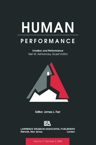 Emotion and Performance: A Special Issue of Human Performance (Paperback)