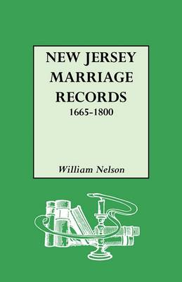 New Jersey Marriage Records, 1665-1800 (Paperback)