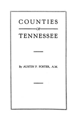 Counties of Tennessee (Paperback)