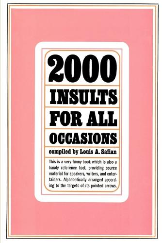 Two Thousand Insults for All Occasions (Paperback)