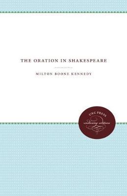 The Oration in Shakespeare (Hardback)