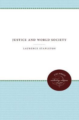 Justice and World Society (Hardback)
